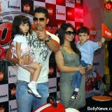 Aftab Shivdasani And Mahima Chaudhary With Kids