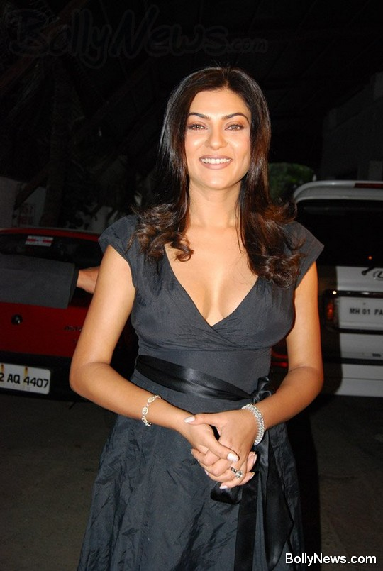 Sushmita sen in black dress