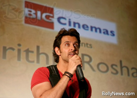 hrithik roshan at big cinemas