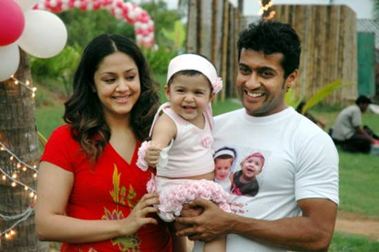 Suriya Jyotika and daughter diya