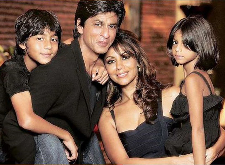 shahrukh khan and family