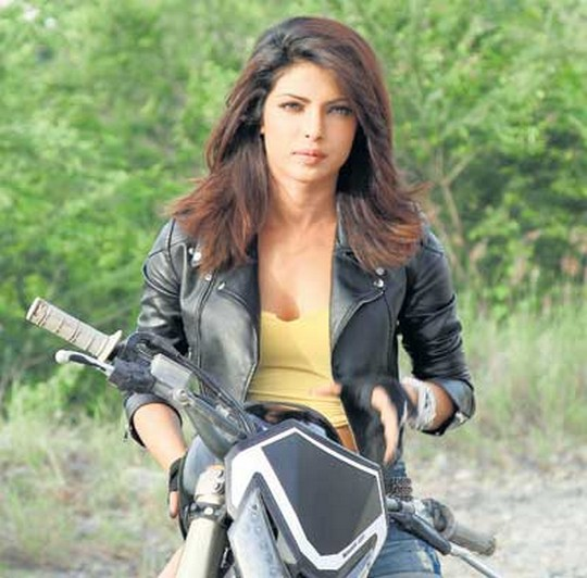 priyanka chopra in bike